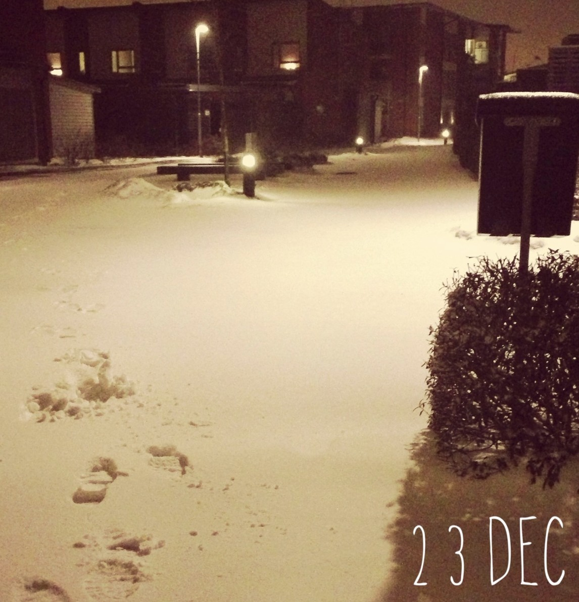 23 December – My first snow of the year on lillejulafton