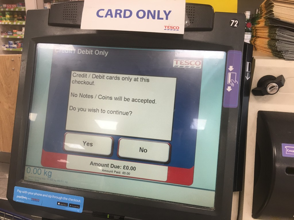 Card only - Tesco self checkout